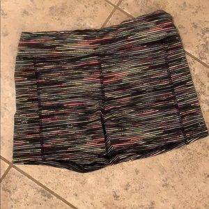 Multi colored workout shorts